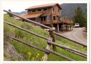 yellowstone vacation rental log home in montana