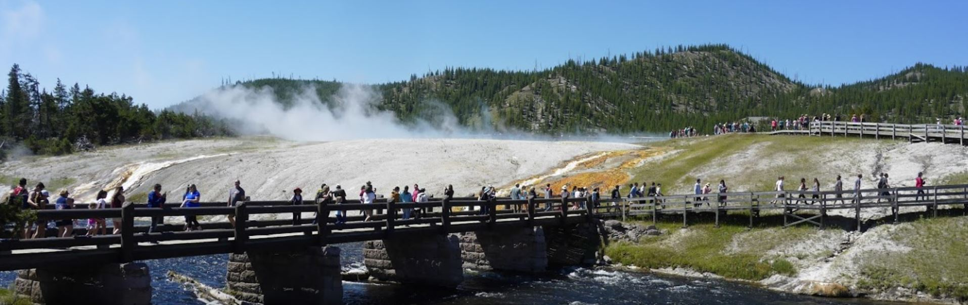 yellowstone walkways over water