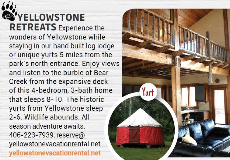 yellowstone national park lodging cabin & yurts